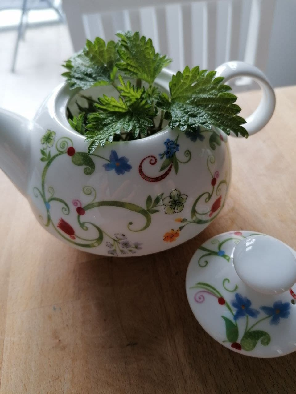 Frischer Tee aus Brennnesseln
